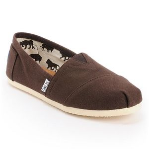 Toms Classic Slip On Shoe Chocolate Brown